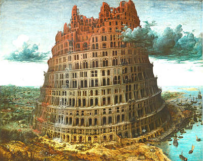 The Tower Of Babel Art Print by Miguel Rodriguez