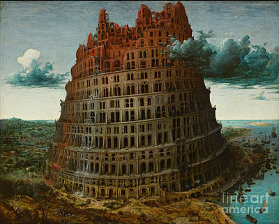 Abstract Digital Painting - The Tower Of Babel by Celestial Images