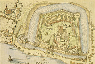 The Tower Of London, From A Survey Made Art Print by English School