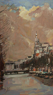 Painting - The Tower Of Metz And Co Amsterdam by Nop Briex