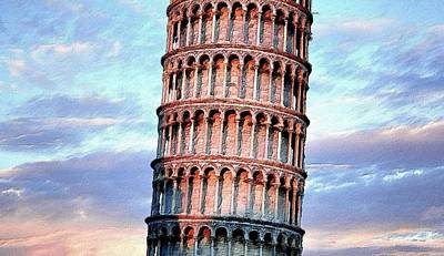 Painting - The Tower Of Pisa by Florian Rodarte