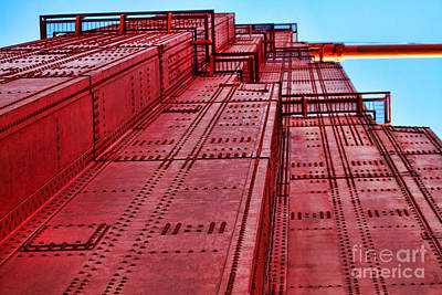 Sight Seeing San Francisco Photograph - The Tower On Golden Gate By Diana Sainz by Diana Sainz