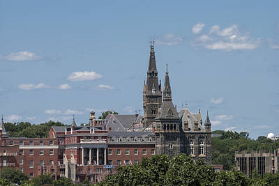 Photograph - The Towers Of Healy Hall Georgetown University by Lauren Brice