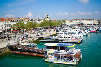 The Town And Port Of La Rochelle Art Print