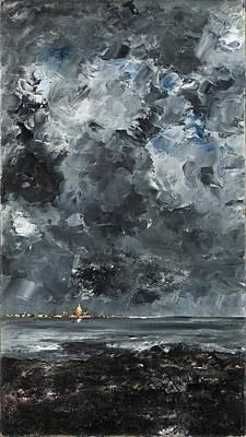 August Strindberg Painting - The Town by August Strindberg
