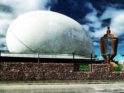 The Town Ball Is Now Open Art Print