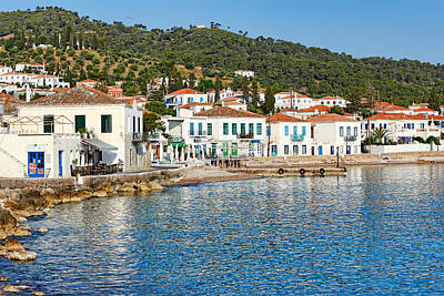 Spetses Photograph - The Town Of Spetses Island - Greece by Constantinos Iliopoulos