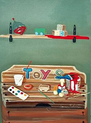 Painting - The Toy Chest by Susan Roberts