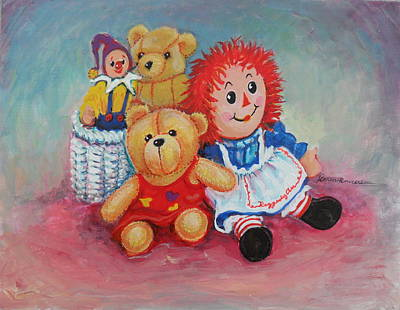 Raggedy Ann Painting - The Toys by Karen Roncari
