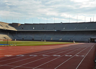 Franklin Field Photograph - The Track At Franklin Field by Bill Cannon