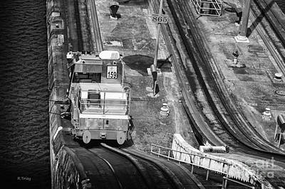 Photograph - The Tracks And Mule Of Gatun Locks by Rene Triay Photography
