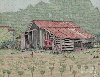 The Tractor Barn Art Print by Calvert Koerber