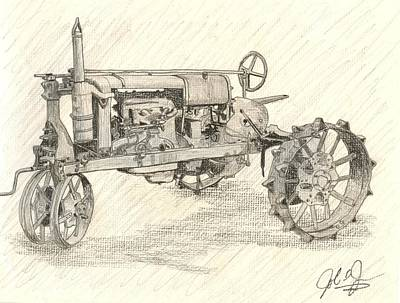 The Tractor Art Print by John Jones