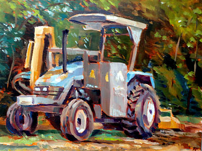 The Tractor Art Print by Mark Hartung