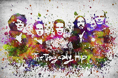 Music Digital Art - The Tragically Hip in Color by Aged Pixel