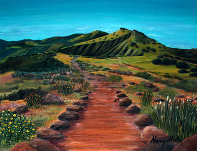 Painting - The Trail by Nancy Hotz