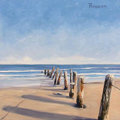 Painting - The Trail Of Leaning Posts by Dianna Poindexter