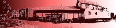 Photograph - The Train Depot 2 by Richard J Cassato
