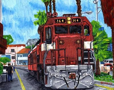 The Train From Santa Cruz Art Print