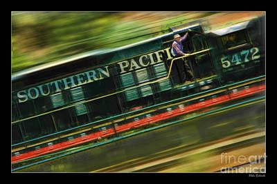 The Train Ride Art Print