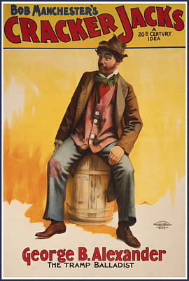 Flyer Drawing - The Tramp Balladist by Aged Pixel