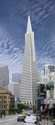 Pyramid Photograph - The Transamerica Pyramid - San Francisco by Mike McGlothlen