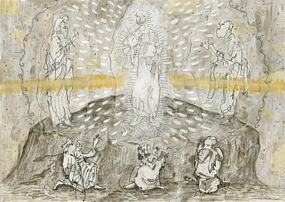Disciples Mixed Media - The Transfiguration  by Jonathan Edward Shaw