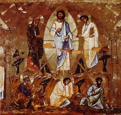 Transfiguration Painting - The Transfiguration Of Christ Art Print by J Nance