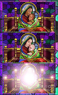 The Transfiguration Of Madonna And Child  Art Print by Reggie Duffie