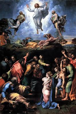 Transfiguration Painting - The Transfiguration by Raffaello Sanzio