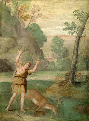 Painting - The Transformation Of Cyparissus by Domenichino and Assistants
