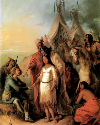 The Trappers Bride 1845 Art Print