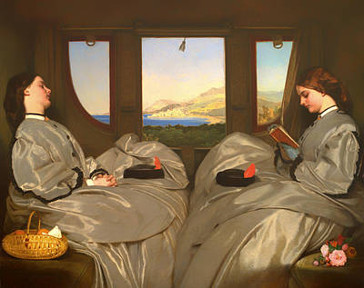 Beautiful Scenery Painting - The Traveling Companions by Mountain Dreams