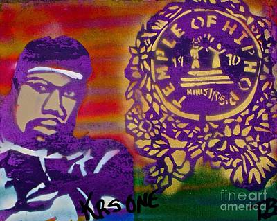 Free Speech Painting - The Teacha Krs One by Tony B Conscious