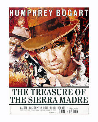 Bogart Photograph - The Treasure Of The Sierra Madre Movie Poster by MMG Archive Prints