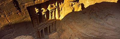 Treasury Photograph - The Treasury At Petra, Wadi Musa, Jordan by Panoramic Images
