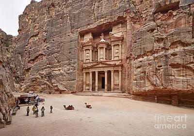 the treasury Nabataean ancient town Petra Original