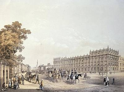 The Treasury, Whitehall, Pub. By Lloyd Bros. & Co. 1852 Colour Litho Art Print by Edmund Walker