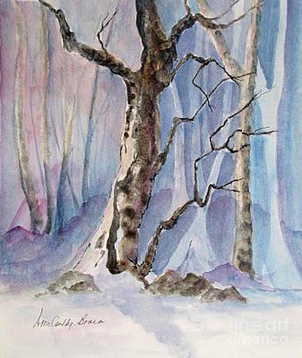Eerie Painting - The Tree by April McCarthy-Braca