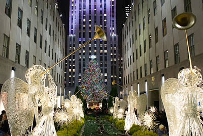The Tree At Rockefeller Center Art Print by Kenneth Cole