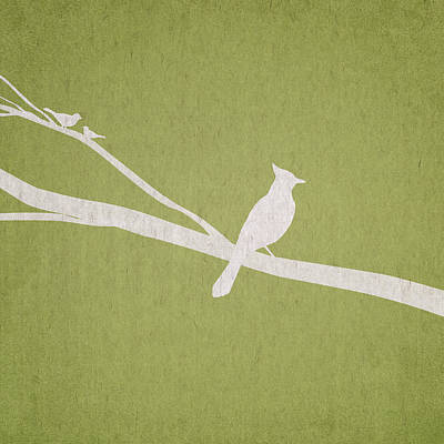 Bird Digital Art - The Tree Branch by Aged Pixel