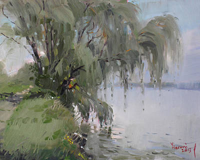 Willow Trees Painting - The Tree By Niagara River by Ylli Haruni