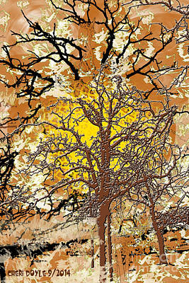 Digital Art - The Tree Inside Me by Cheri Doyle