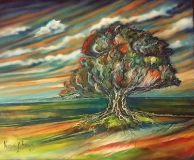 Painting - The Tree by Kendra Sorum