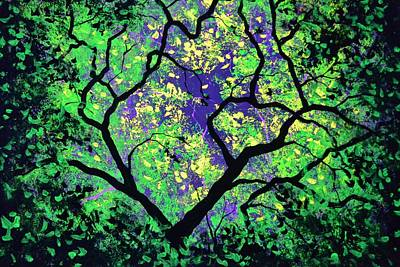 Painting - The Tree Of Life #2 In Black Light by Thomas Kolendra