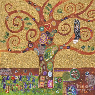 The Tree Of Life After Klimt Art Print by Kate Bedell