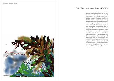 Digital Art - The Tree Of The Ancestors - Book Style Presentation by Arjun L Sen