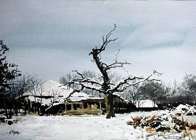 Spooky Scene Painting - The Tree by Ron Bigony