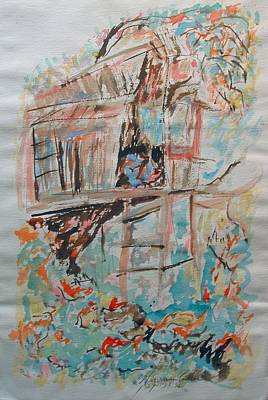 Mixed Media - The Treehouse by Esther Newman-Cohen