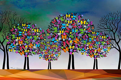 Your Digital Art - The Trees  by Mark Ashkenazi